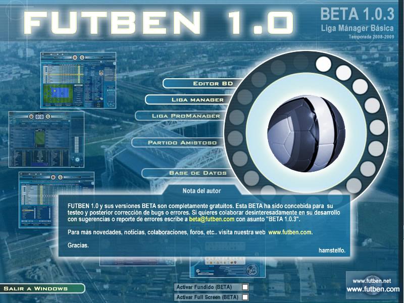El siguiente paso de la evolución fue Futben 1.0.3 - Liga Mánager Básica