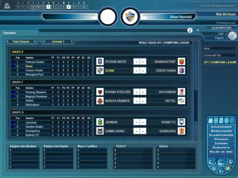 Resultados - AFC Champions League