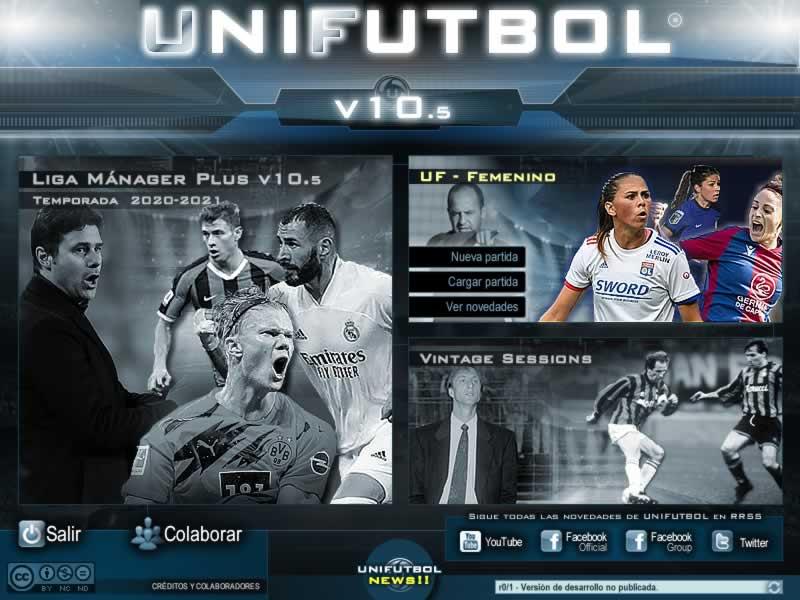 Portada de UNIFUTBOL® v10.5 (UF Femenino)