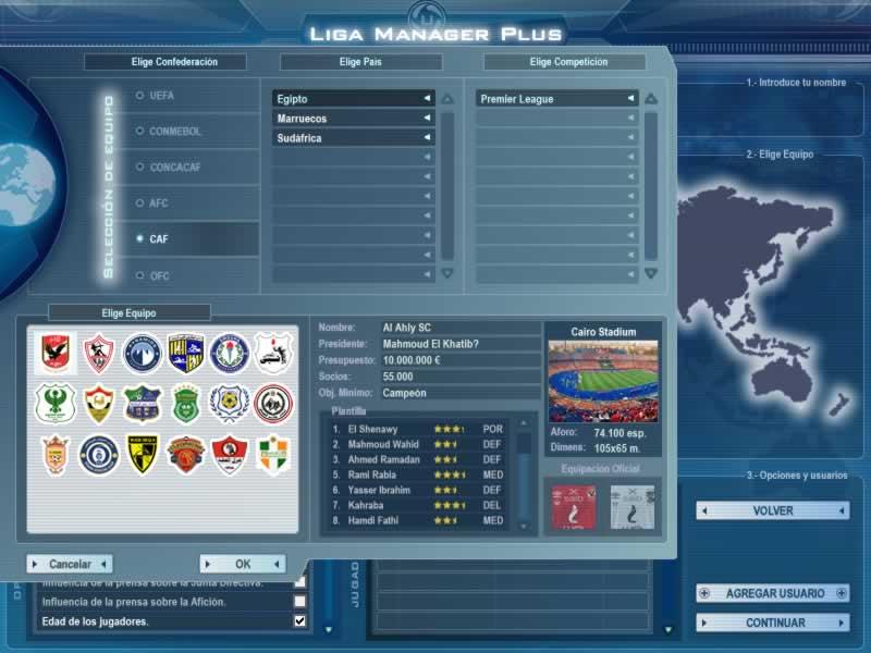 Selección de equipo - Primera División Chile